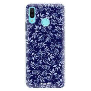 Silikonové pouzdro iSaprio (mléčně zakalené) Blue Leaves 05 na mobil Huawei Nova 3