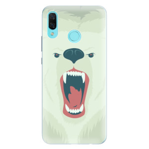 Silikonové pouzdro iSaprio (mléčně zakalené) Naštvanej Medvěd na mobil Huawei Nova 3
