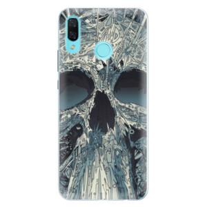 Silikonové pouzdro iSaprio (mléčně zakalené) Abstract Skull na mobil Huawei Nova 3