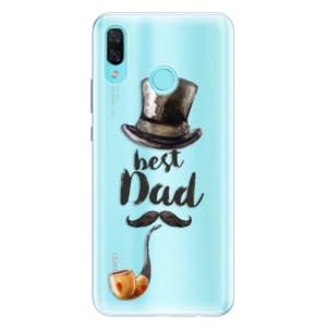 Silikonové pouzdro iSaprio (mléčně zakalené) Best Dad na mobil Huawei Nova 3