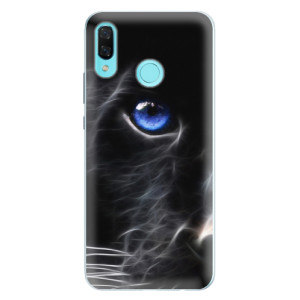 Silikonové pouzdro iSaprio (mléčně zakalené) Black Puma na mobil Huawei Nova 3
