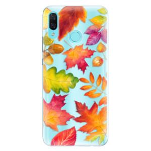 Silikonové pouzdro iSaprio (mléčně zakalené) Podzimní Lístečky na mobil Huawei Nova 3