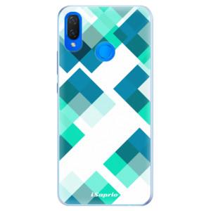 Silikonové pouzdro iSaprio (mléčně zakalené) Abstract Squares 11 na mobil Huawei Nova 3i