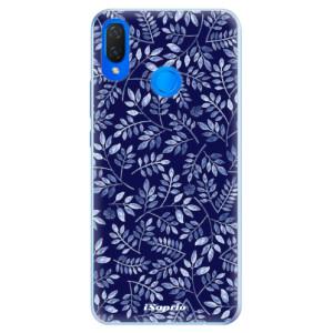 Silikonové pouzdro iSaprio (mléčně zakalené) Blue Leaves 05 na mobil Huawei Nova 3i