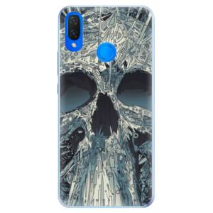 Silikonové pouzdro iSaprio (mléčně zakalené) Abstract Skull na mobil Huawei Nova 3i