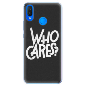 Silikonové pouzdro iSaprio (mléčně zakalené) Who Cares na mobil Huawei Nova 3i