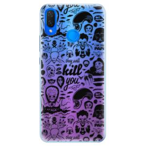Silikonové pouzdro iSaprio (mléčně zakalené) Komiks 01 black na mobil Huawei Nova 3i
