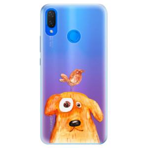 Silikonové pouzdro iSaprio (mléčně zakalené) Pejsek a Ptáček na mobil Huawei Nova 3i