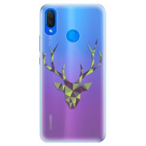 Silikonové pouzdro iSaprio (mléčně zakalené) Zelený Jelínek na mobil Huawei Nova 3i
