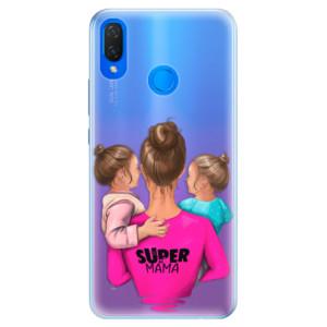 Silikonové pouzdro iSaprio (mléčně zakalené) Super Máma Two Girls na mobil Huawei Nova 3i
