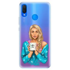 Silikonové pouzdro iSaprio (mléčně zakalené) Coffee Now Blondýna na mobil Huawei Nova 3i