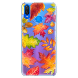Silikonové pouzdro iSaprio (mléčně zakalené) Podzimní Lístečky na mobil Huawei Nova 3i