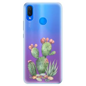 Silikonové pouzdro iSaprio (mléčně zakalené) Kaktusy 01 na mobil Huawei Nova 3i