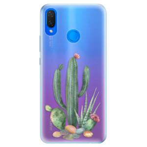 Silikonové pouzdro iSaprio (mléčně zakalené) Kaktusy 02 na mobil Huawei Nova 3i