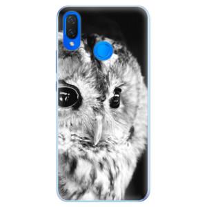 Silikonové pouzdro iSaprio (mléčně zakalené) BW Sova na mobil Huawei Nova 3i