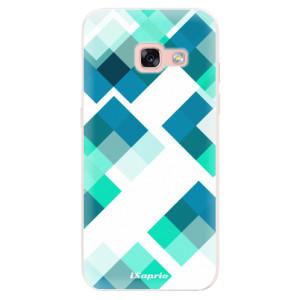 Silikonové pouzdro iSaprio (mléčně zakalené) Abstract Squares 11 na mobil Samsung Galaxy A3 2017