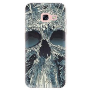 Silikonové pouzdro iSaprio (mléčně zakalené) Abstract Skull na mobil Samsung Galaxy A3 2017