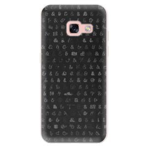 Silikonové pouzdro iSaprio (mléčně zakalené) Ampersand 01 na mobil Samsung Galaxy A3 2017