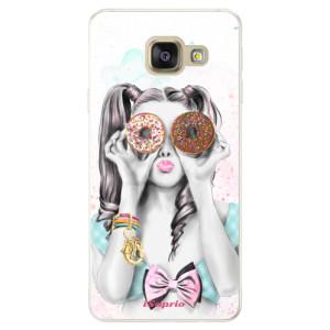 Silikonové pouzdro iSaprio (mléčně zakalené) Donutky Očiska 10 na mobil Samsung Galaxy A5 2016