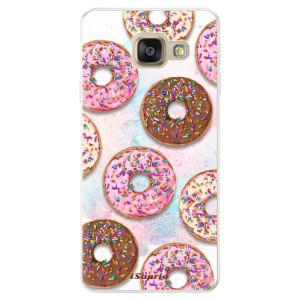 Silikonové pouzdro iSaprio (mléčně zakalené) Donutky Všude 11 na mobil Samsung Galaxy A5 2016