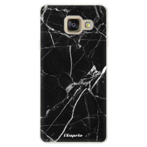 Silikonové pouzdro iSaprio (mléčně zakalené) Black Marble 18 na mobil Samsung Galaxy A5 2016