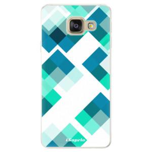 Silikonové pouzdro iSaprio (mléčně zakalené) Abstract Squares 11 na mobil Samsung Galaxy A5 2016