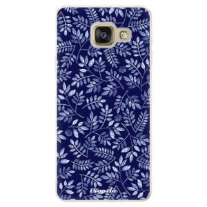 Silikonové pouzdro iSaprio (mléčně zakalené) Blue Leaves 05 na mobil Samsung Galaxy A5 2016