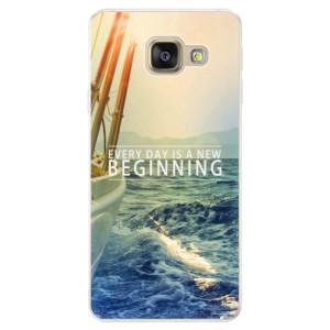 Silikonové pouzdro iSaprio (mléčně zakalené) Beginning na mobil Samsung Galaxy A5 2016