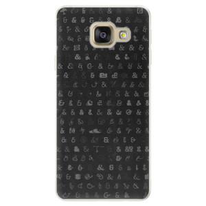 Silikonové pouzdro iSaprio (mléčně zakalené) Ampersand 01 na mobil Samsung Galaxy A5 2016