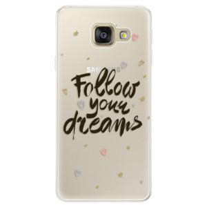 Silikonové pouzdro iSaprio (mléčně zakalené) Follow Your Dreams černý na mobil Samsung Galaxy A5 2016
