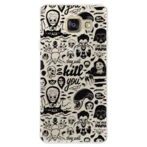 Silikonové pouzdro iSaprio (mléčně zakalené) Komiks 01 black na mobil Samsung Galaxy A5 2016