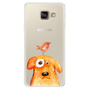 Silikonové pouzdro iSaprio (mléčně zakalené) Pejsek a Ptáček na mobil Samsung Galaxy A5 2016
