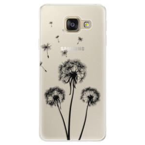 Silikonové pouzdro iSaprio (mléčně zakalené) Tři Černé Pampelišky na mobil Samsung Galaxy A5 2016