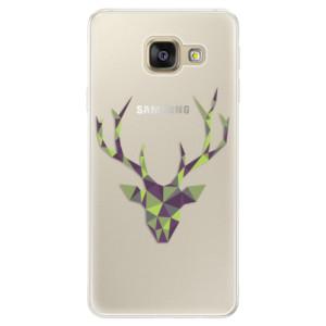 Silikonové pouzdro iSaprio (mléčně zakalené) Zelený Jelínek na mobil Samsung Galaxy A5 2016