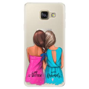 Silikonové pouzdro iSaprio (mléčně zakalené) Best Friends na mobil Samsung Galaxy A5 2016