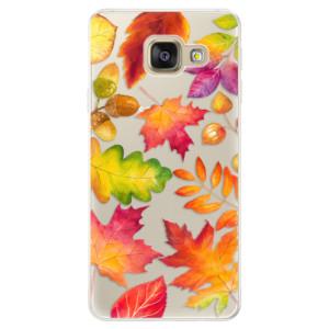 Silikonové pouzdro iSaprio (mléčně zakalené) Podzimní Lístečky na mobil Samsung Galaxy A5 2016