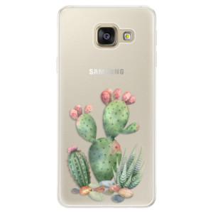 Silikonové pouzdro iSaprio (mléčně zakalené) Kaktusy 01 na mobil Samsung Galaxy A5 2016