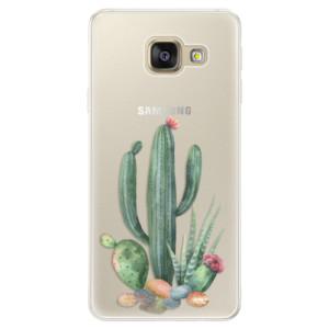 Silikonové pouzdro iSaprio (mléčně zakalené) Kaktusy 02 na mobil Samsung Galaxy A5 2016