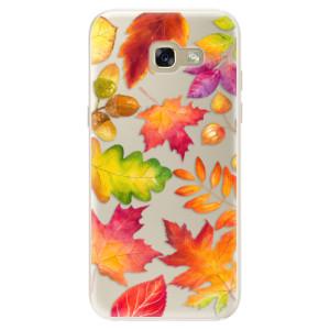 Silikonové pouzdro iSaprio (mléčně zakalené) Podzimní Lístečky na mobil Samsung Galaxy A5 2017