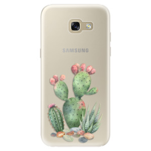 Silikonové pouzdro iSaprio (mléčně zakalené) Kaktusy 01 na mobil Samsung Galaxy A5 2017
