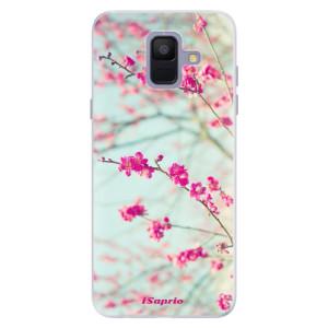 Silikonové pouzdro iSaprio (mléčně zakalené) Blossom 01 na mobil Samsung Galaxy A6