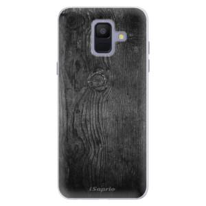 Silikonové pouzdro iSaprio (mléčně zakalené) Black Wood 13 na mobil Samsung Galaxy A6