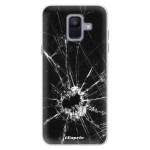 Silikonové pouzdro iSaprio (mléčně zakalené) Broken Glass 10 na mobil Samsung Galaxy A6