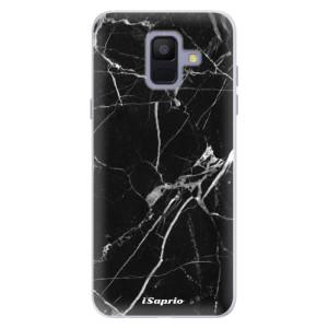 Silikonové pouzdro iSaprio (mléčně zakalené) Black Marble 18 na mobil Samsung Galaxy A6