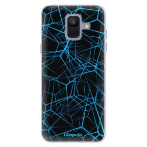 Silikonové pouzdro iSaprio (mléčně zakalené) Abstract Outlines 12 na mobil Samsung Galaxy A6