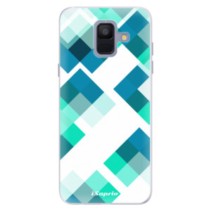 Silikonové pouzdro iSaprio (mléčně zakalené) Abstract Squares 11 na mobil Samsung Galaxy A6