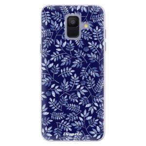 Silikonové pouzdro iSaprio (mléčně zakalené) Blue Leaves 05 na mobil Samsung Galaxy A6