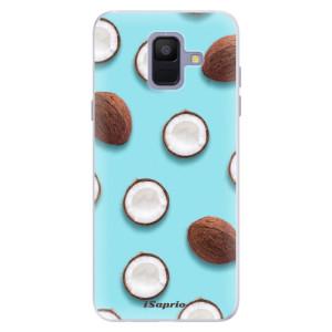 Silikonové pouzdro iSaprio (mléčně zakalené) Kokos 01 na mobil Samsung Galaxy A6