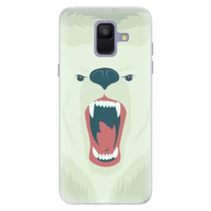 Silikonové pouzdro iSaprio (mléčně zakalené) Naštvanej Medvěd na mobil Samsung Galaxy A6