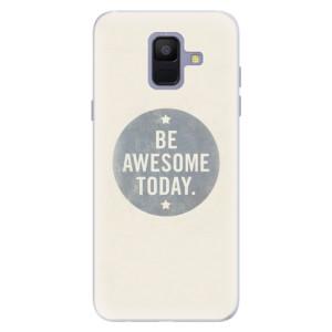 Silikonové pouzdro iSaprio (mléčně zakalené) Awesome 02 na mobil Samsung Galaxy A6